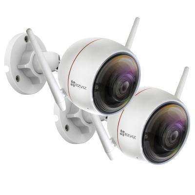 ezGuard C3W Wired 1080p Indoor/Outdoor Bullet Wi-Fi Full HD Security Camera (2-Pack)