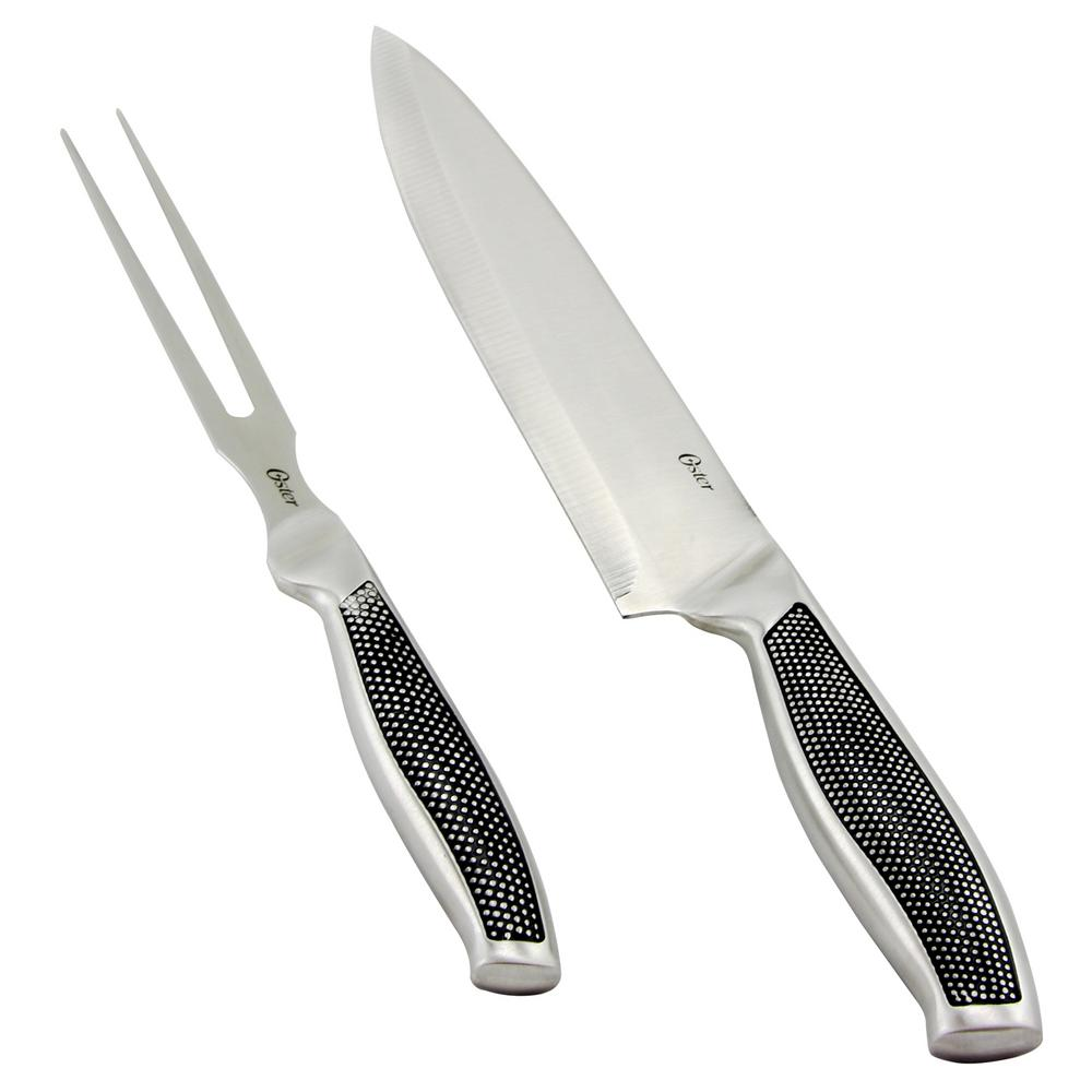 Oster rowan piece carving fork and knife set m