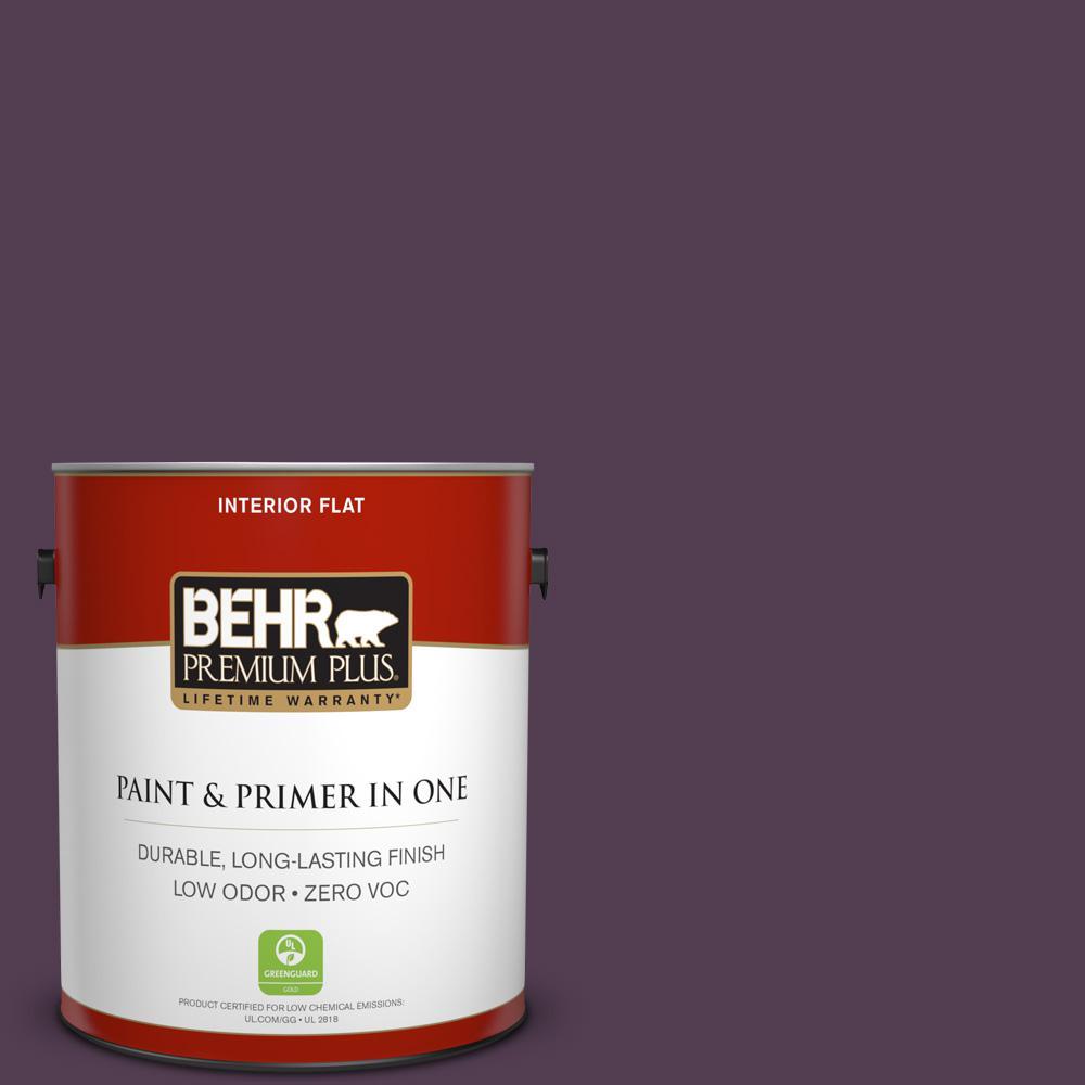 1 gal. #PPU17-02 Oriental Eggplant Zero VOC Flat Interior Paint