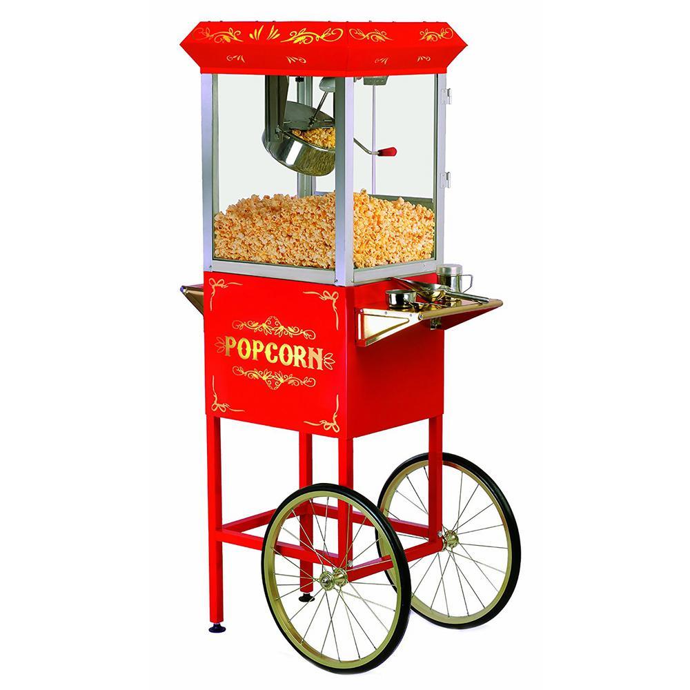 Deluxe 8 oz. Kettle Popcorn Trolley in Red