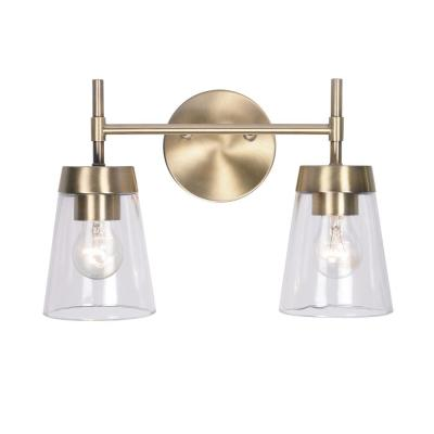 Delgato 2-Light Antique Brass Bathroom Vanity Light