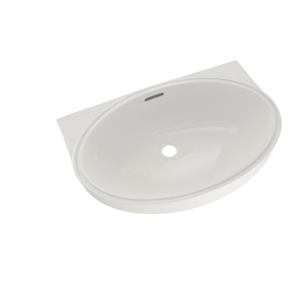 Toto 22 In Oval Undermount Bathroom Sink With Cefiontect