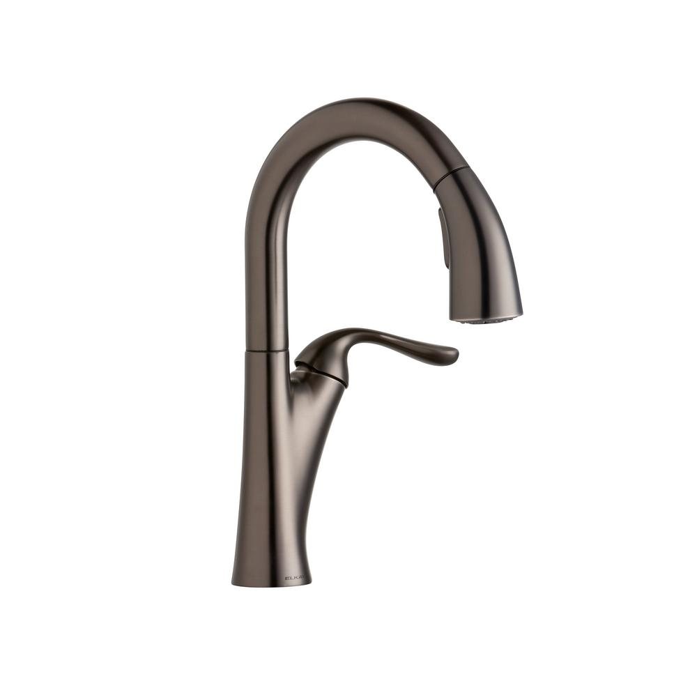 Elkay Harmony Single-Handle Bar Faucet with Pull-Down Spray in ...