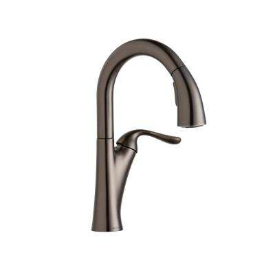 Harmony Single-Handle Bar Faucet with Pull-Down Spray in Antique Steel