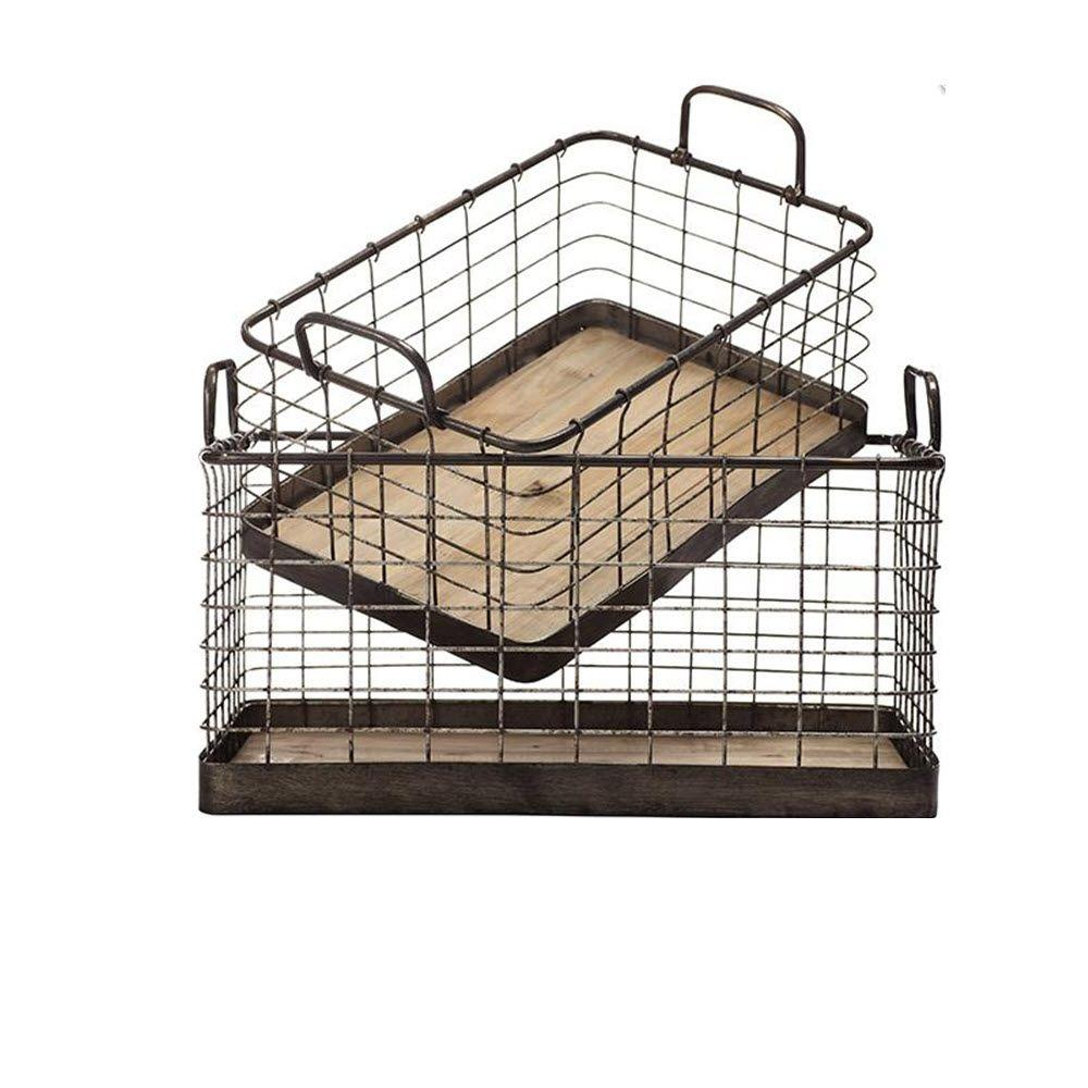 Home Decorators Collection Anderson Iron Basket Tray (Set of 2)