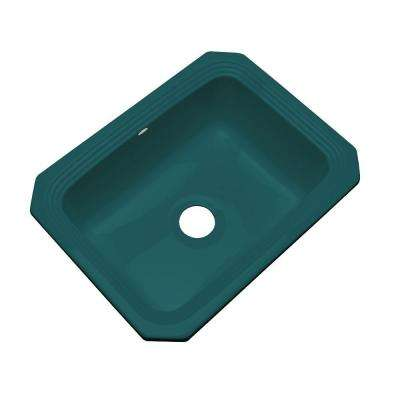 Rochester Undermount Acrylic 25 in. Single Bowl Kitchen Sink in Teal