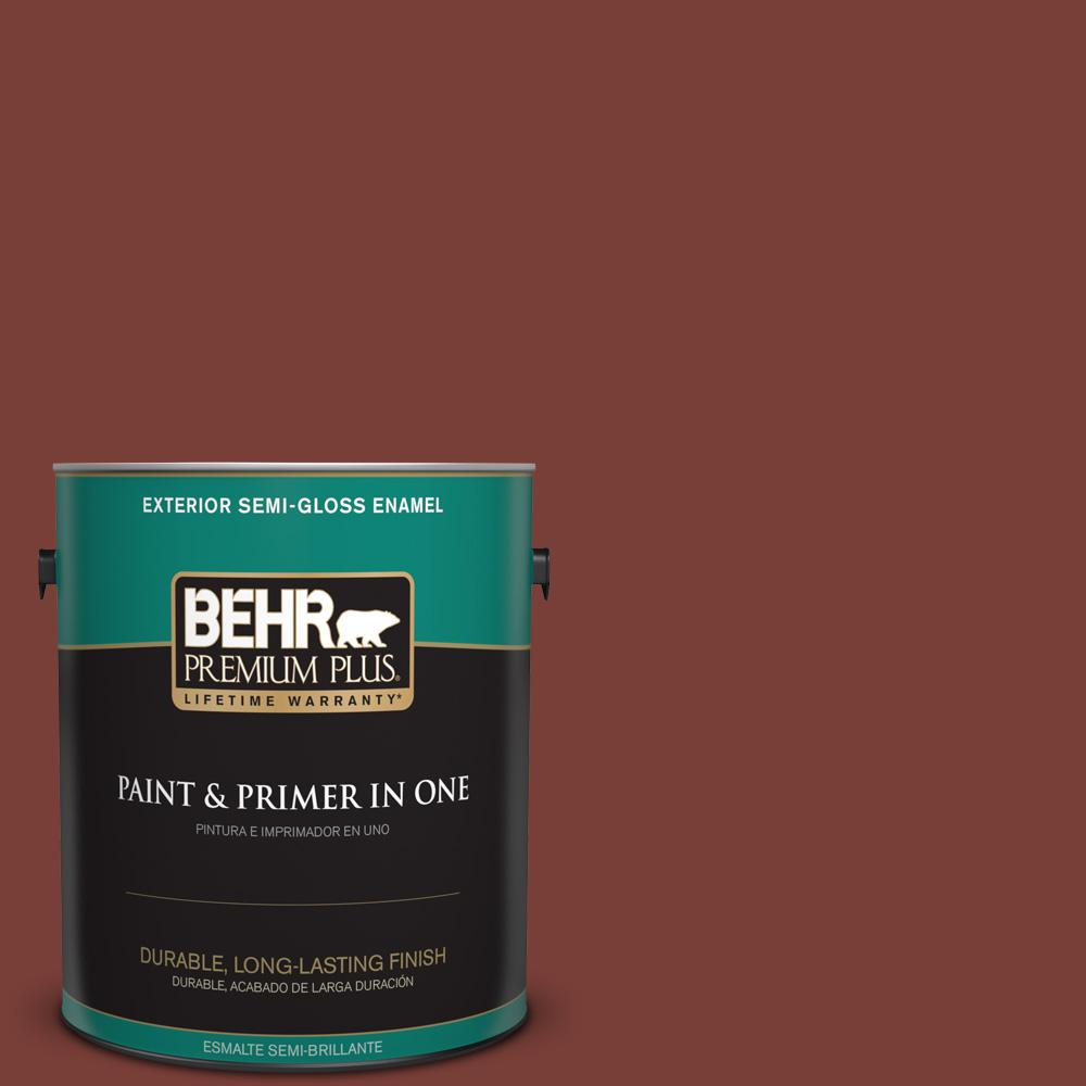 1 gal. #PPU2-02 Red Pepper Semi-Gloss Enamel Exterior Paint