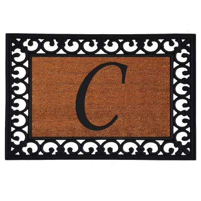Monogram Insert Door Mat 19 in. x 25 in. (Letter C)