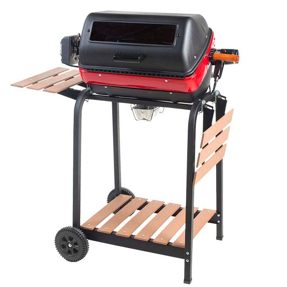 Home Depot Exterior Street: Easy Street Deluxe Electric Cart Grill In Black-9329W9.181