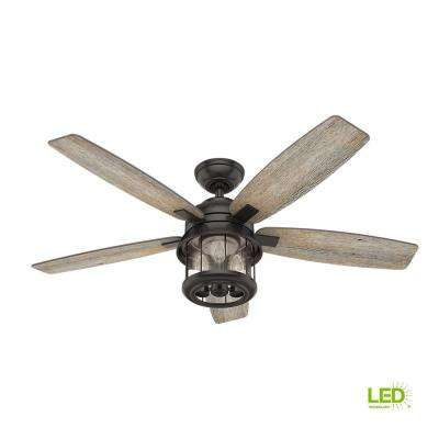 Led Indoor Outdoor Le Bronze Ceiling Fan With Handheld Remote