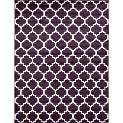 trellis purple 10 ft x 13 ft rug