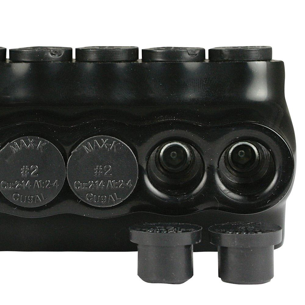 350-6 AWG Multi Tap Wire Connector Insulated 3 Ports Black Bagged
