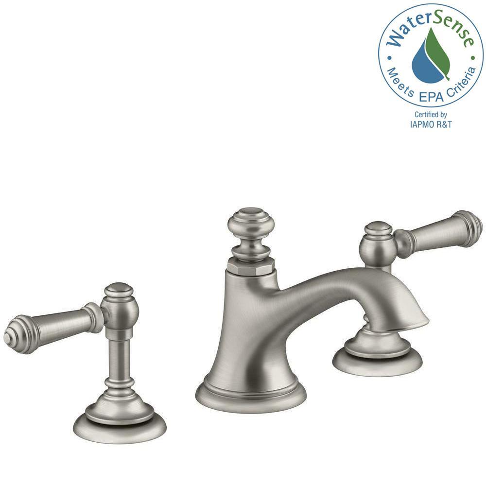 Kohler Kelston 8 In Widespread 2 Handle Low Arc Water Saving Bathroom Faucet In Vibrant Brushed