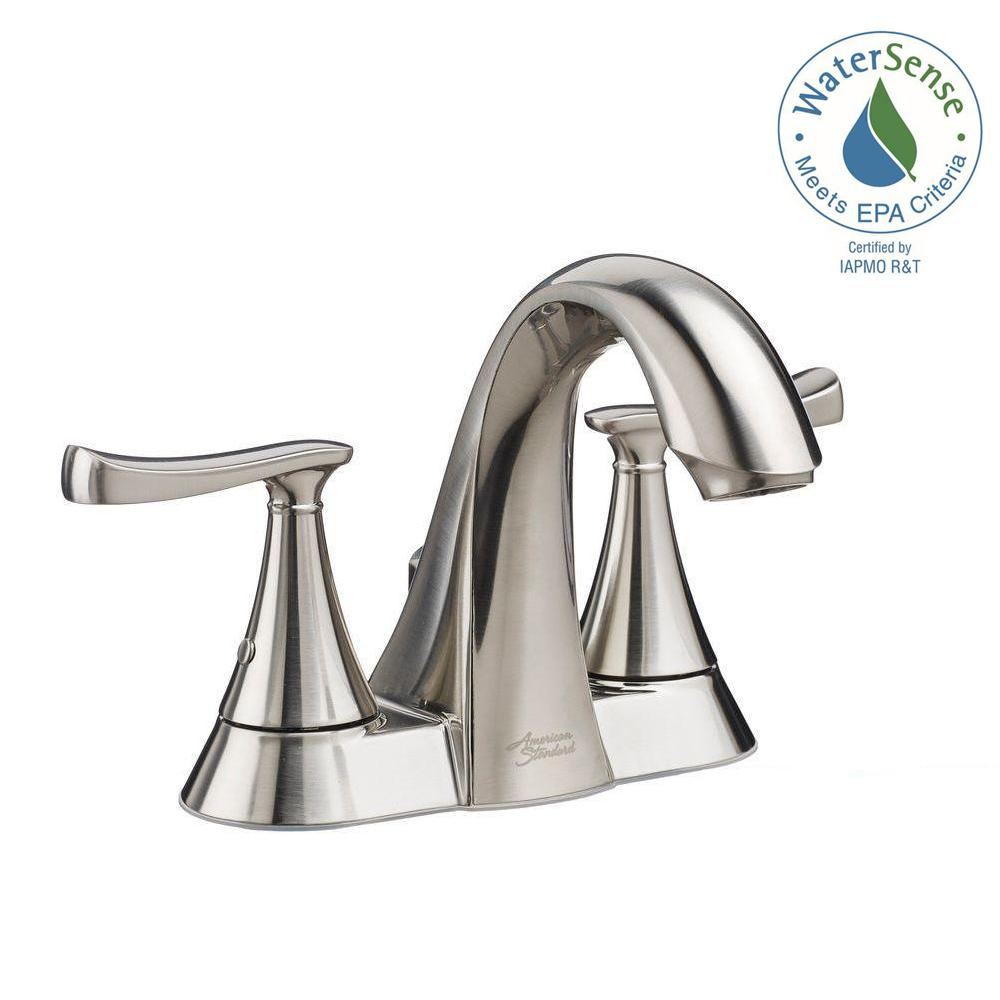 American Standard Chatfield 4 in. Centerset 2-Handle Bathroom Faucet in Brushed Nickel