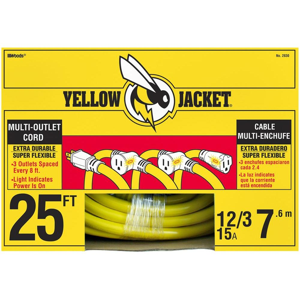 Extension cord yellow jacket