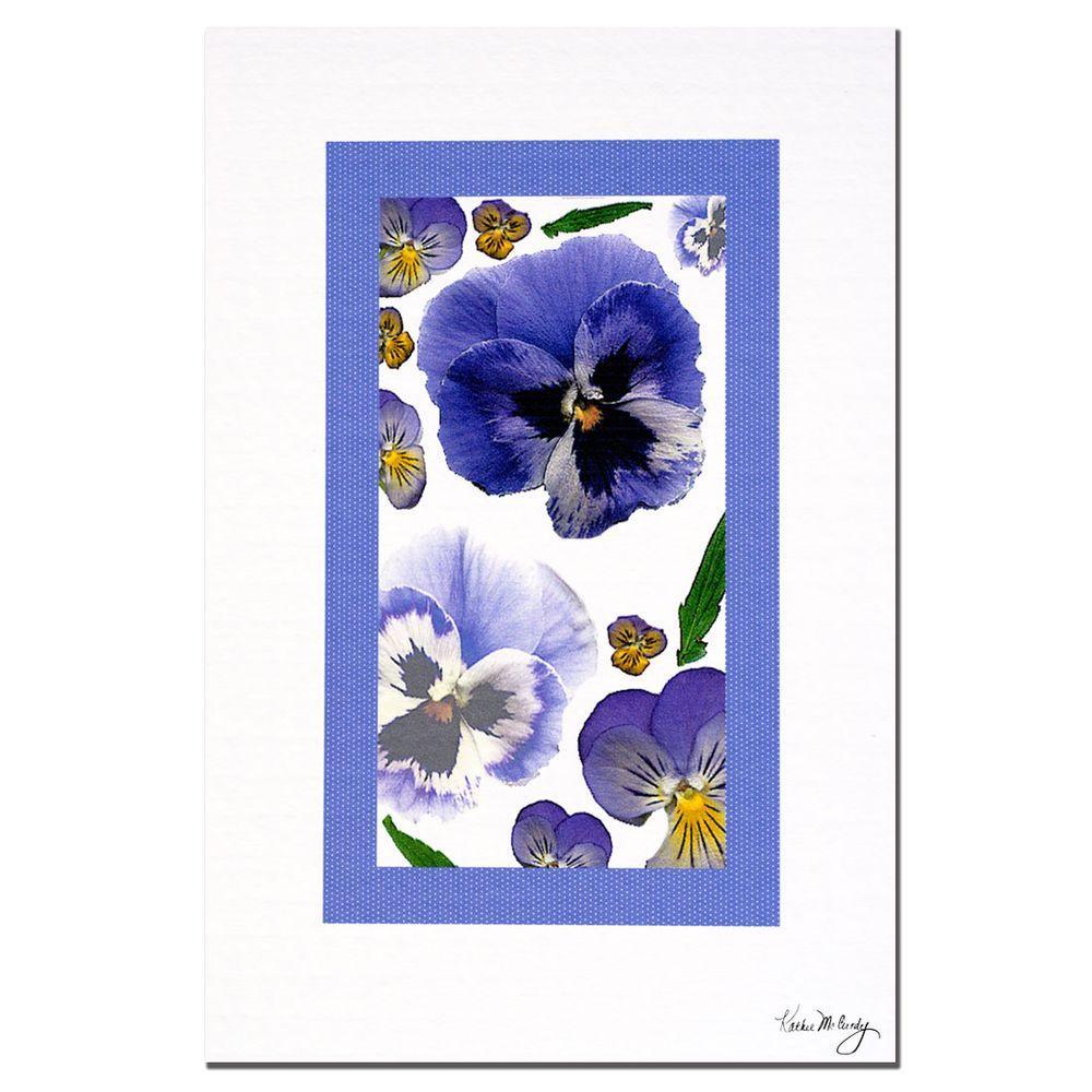 Trademark Fine Art 24 in. x 16 in. Pansy Window Canvas Art
