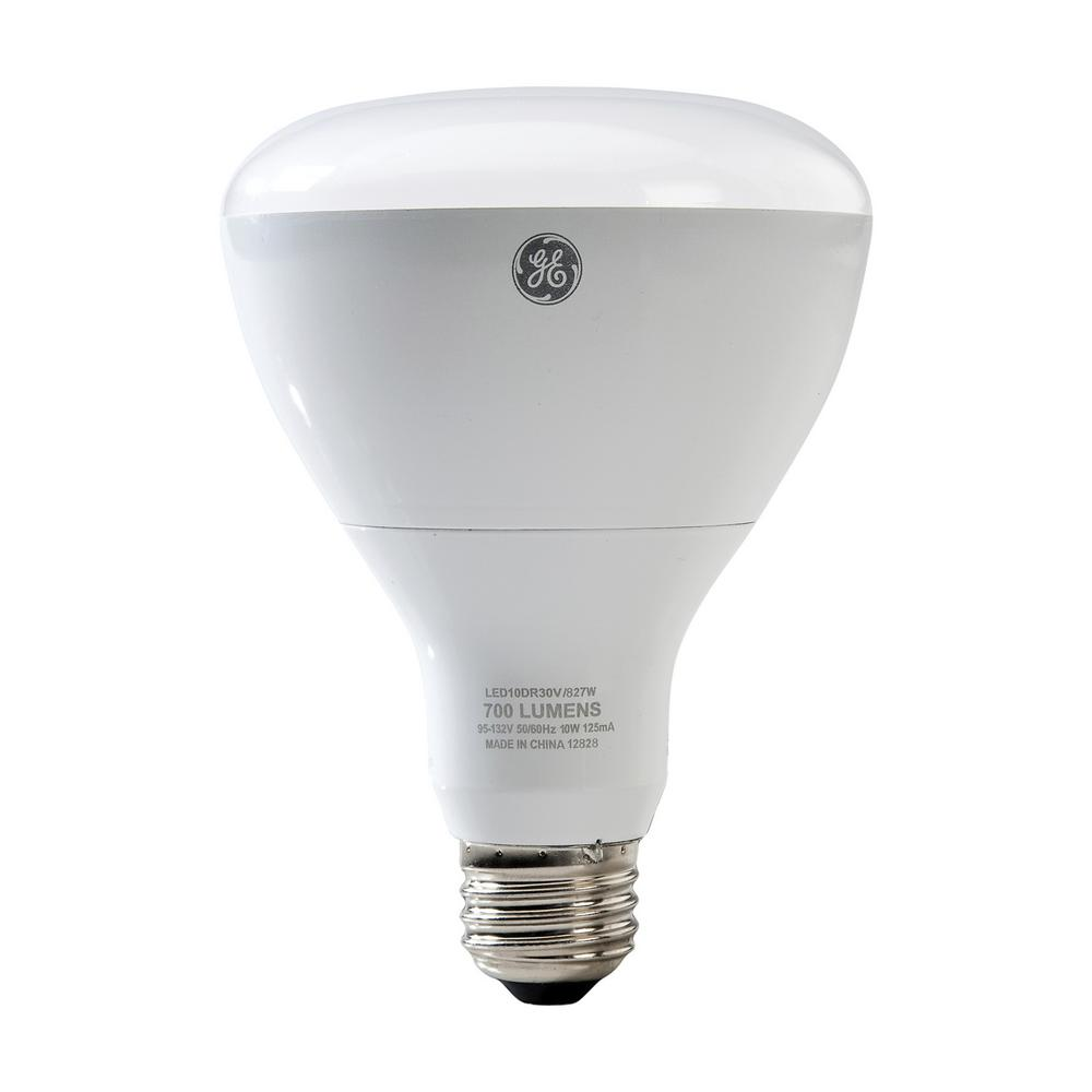 GE 65W Equivalent Daylight 5000K High Definition BR40 Dimmable LED Light Bulb