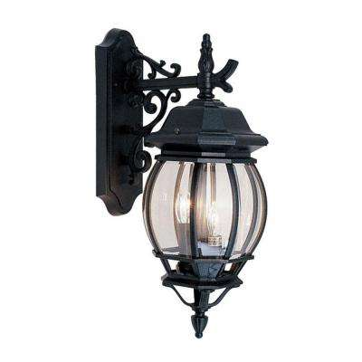 Providence 3-Light Black Outdoor Incandescent Wall-Mount Lantern Sconce