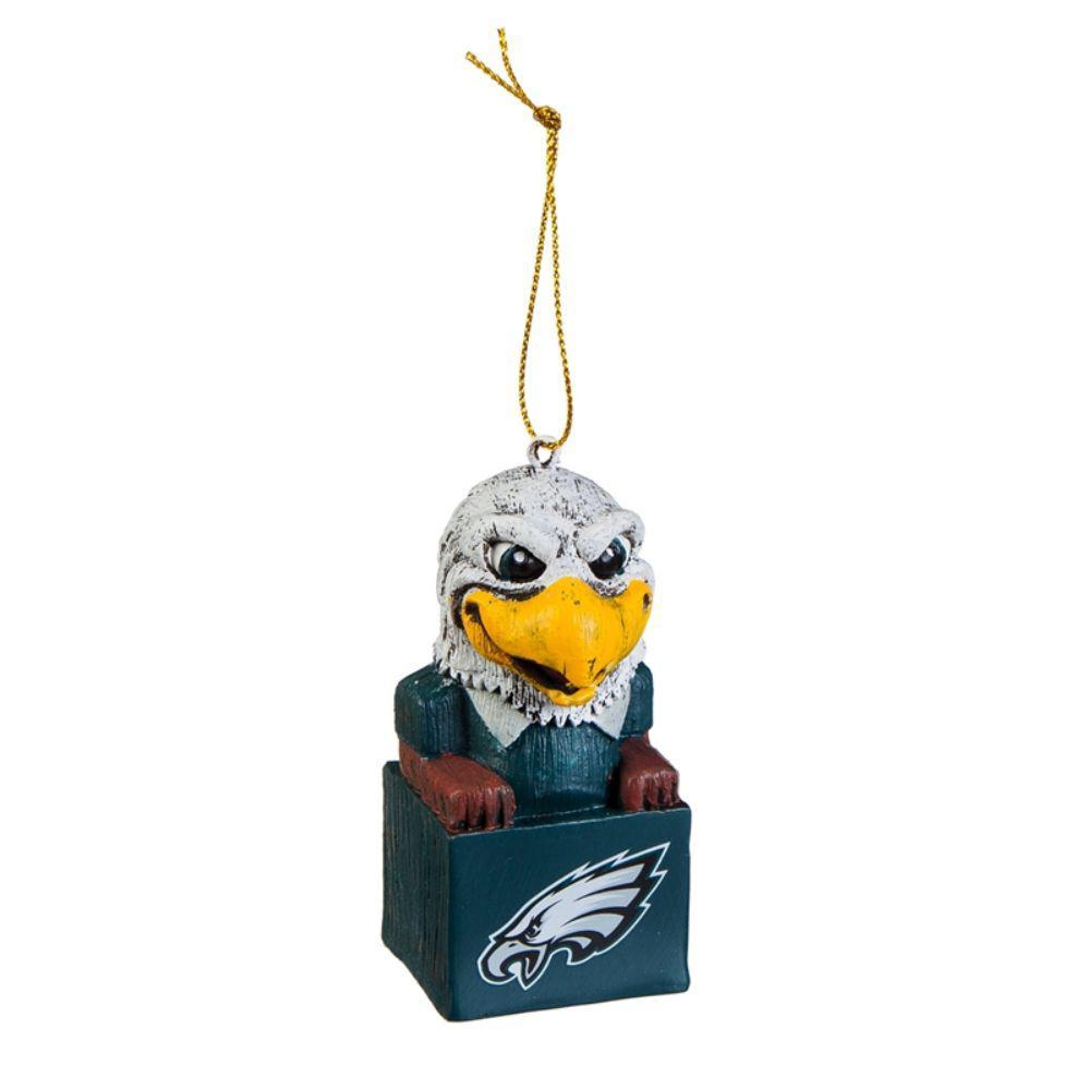 Philadelphia Eagles 1-1/2 in. NFL Mascot Tiki Totem Christmas Ornament