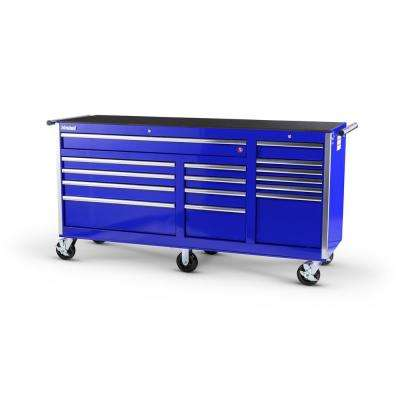 Tech Series 75 in. 15-Drawer Roller Cabinet Tool Chest in Blue
