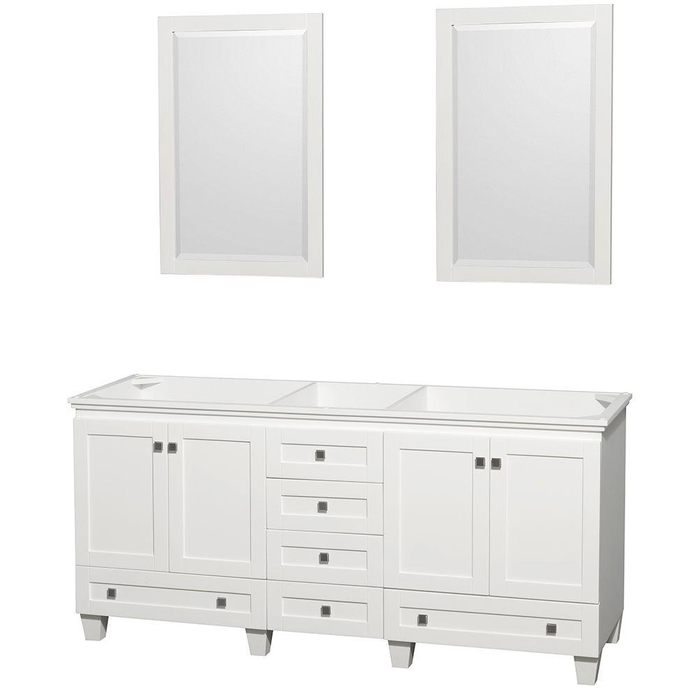 Wyndham Collection Acclaim 72 in. Double Vanity Cabinet with 2 ...