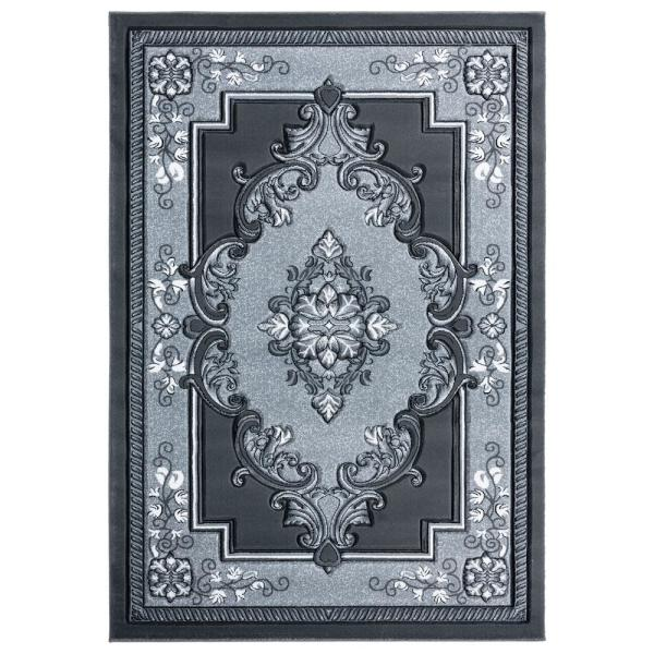United Weavers Bristol Fallon Grey 2 Ft 7 In X 4 Ft 2 In Area Rug 2050 10572 35c The Home Depot