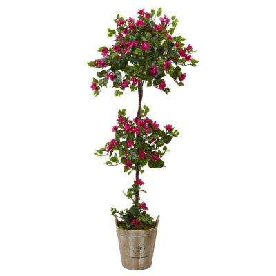 54 in. Bougainvillea Tree with European Barrel Planter