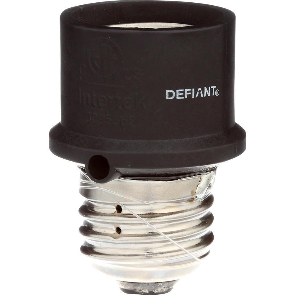 Defiant Screw In Dusk To Dawn Light Control Black Slc4cbd