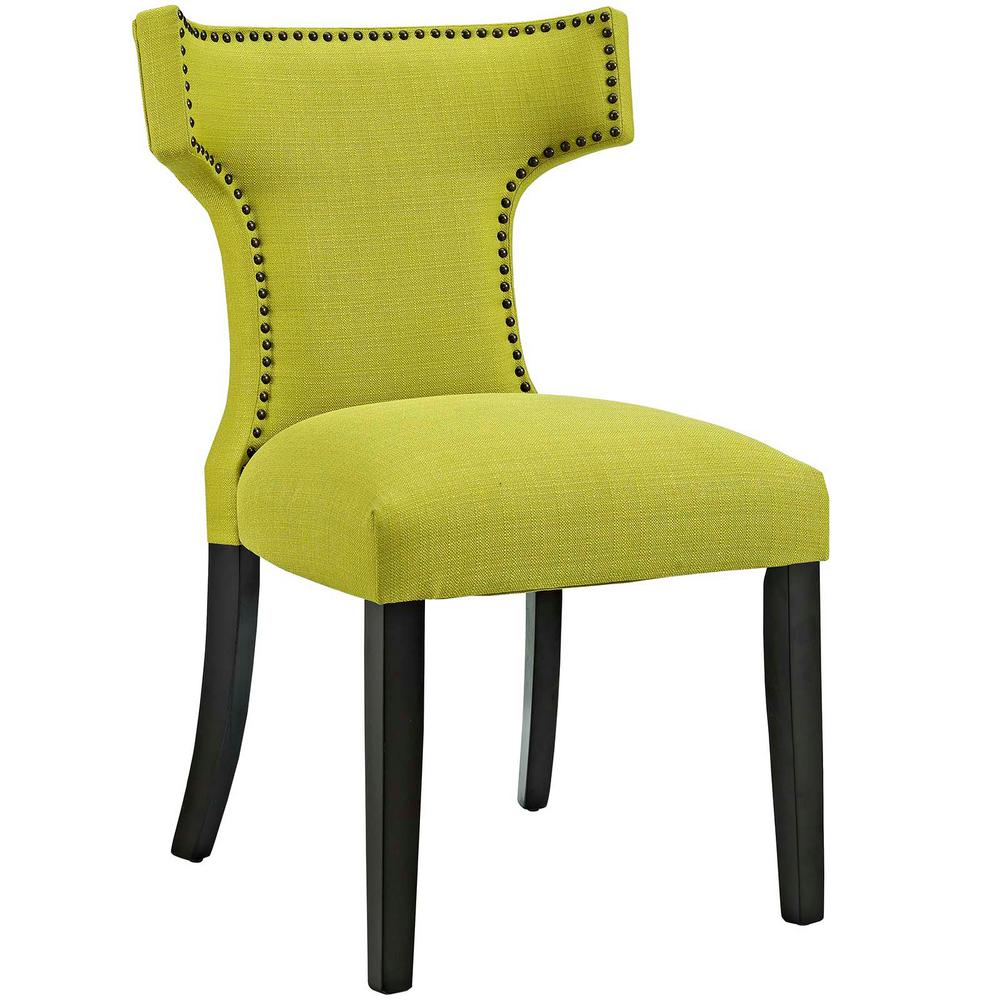 Curve Wheatgrass Fabric Dining Chair