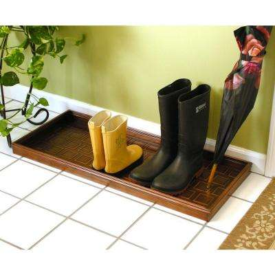 34.5 in. x 14.5 in. Squares Multi-Purpose Copper Finish Boot Tray for Boots, Shoes, Plants, Pet Bowls More