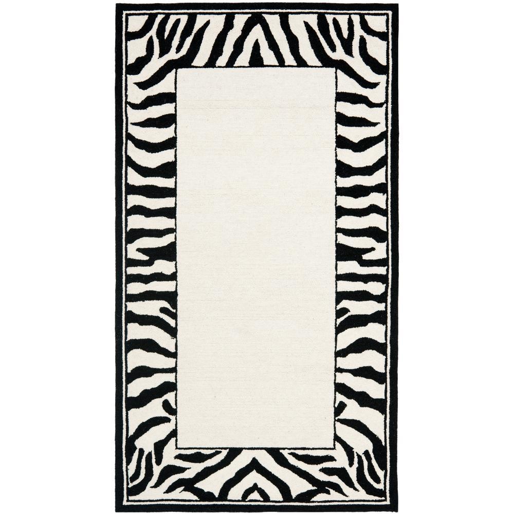 Chelsea White/Black 3 ft. x 4 ft. Area Rug