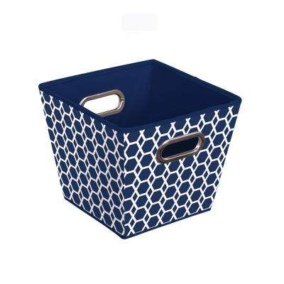 Storage Bin in Geometric Blue (3-Pack)
