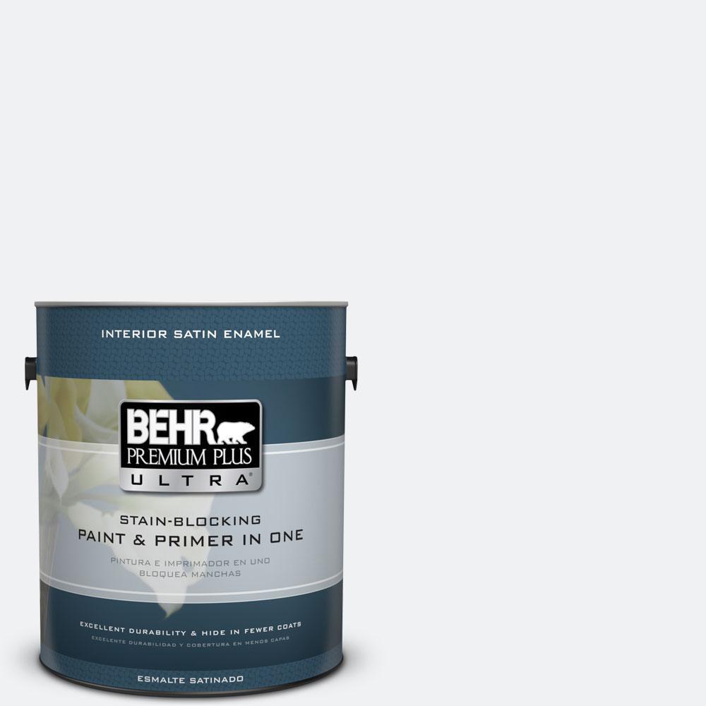 BEHR Premium Plus Ultra 1-gal. #610E-1 Windmill Wings Satin Enamel Interior Paint