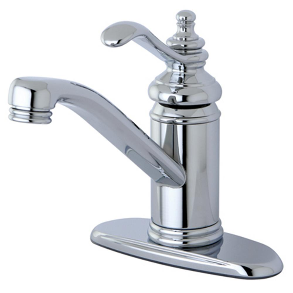 Kingston Br Traditional Single Hole Handle Bathroom Faucet In Chrome
