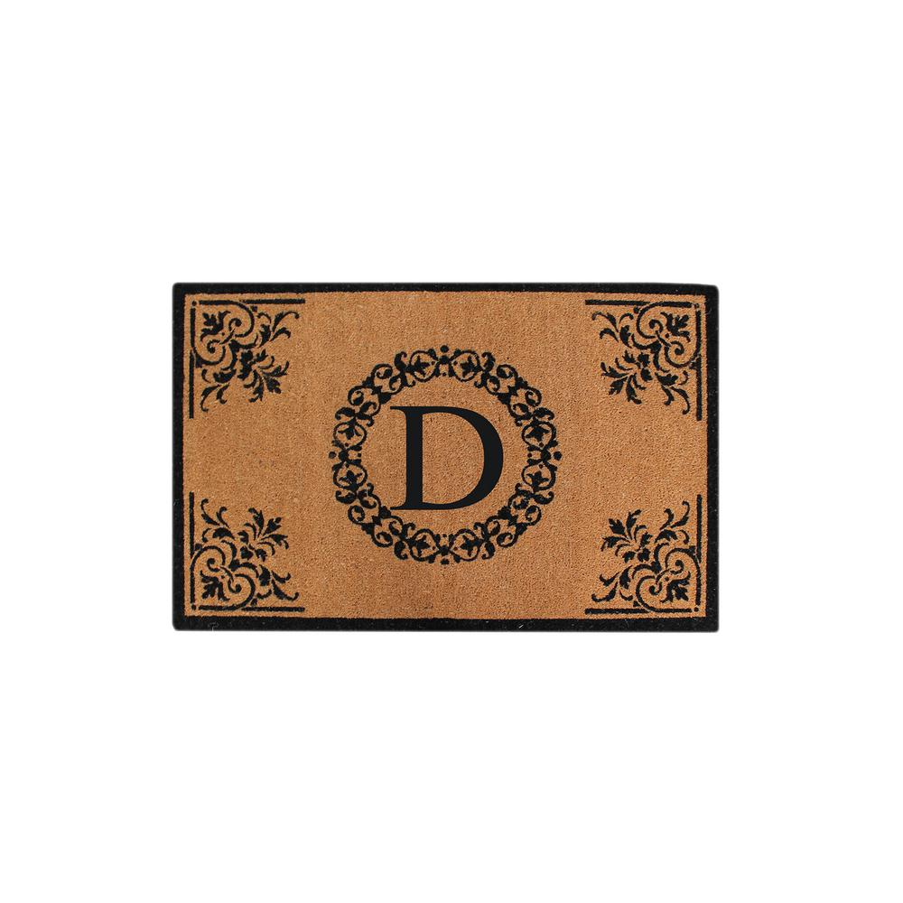 A1hc Hand Crafted Fl 30 In X 48 Monogrammed D Entry Double Door