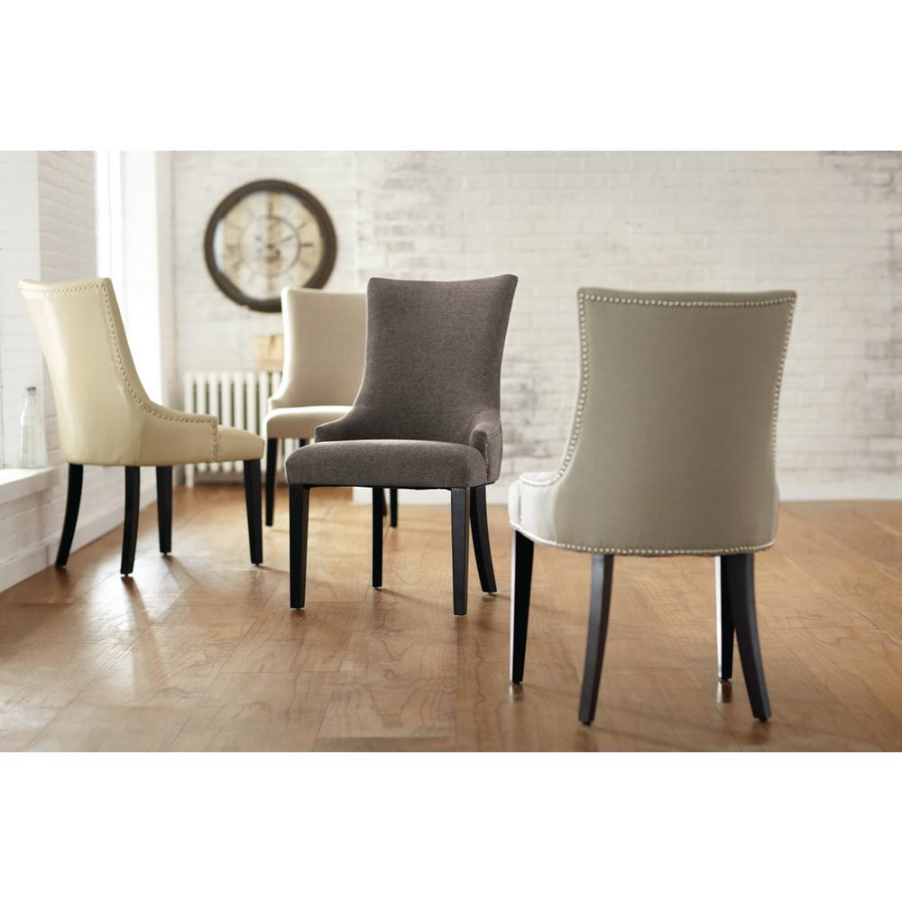 Home Decorators Collection Becca Grey Leather Dining Chair