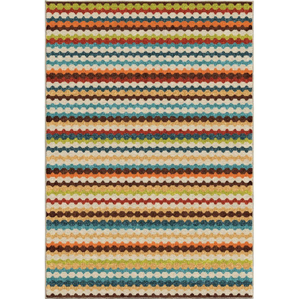 Jumping Jack Multi Striped 7 Ft. 8 In. X 10 Ft.
