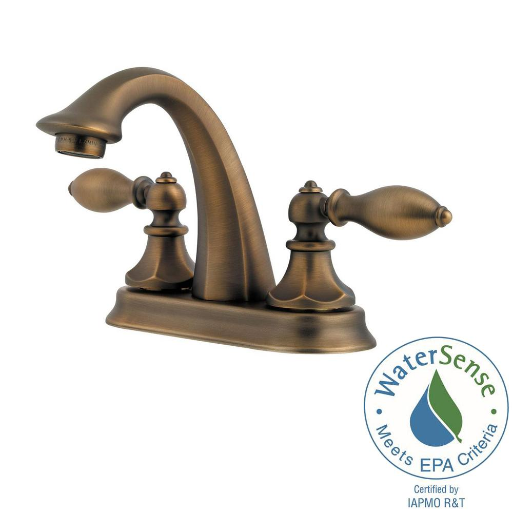 Pfister Catalina 4 in. Centerset 2-Handle Bathroom Faucet in Velvet ...