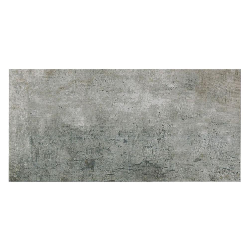 MONO SERRA Tune Grigio 12 in. x 24 in. Porcelain Floor and Wall ...