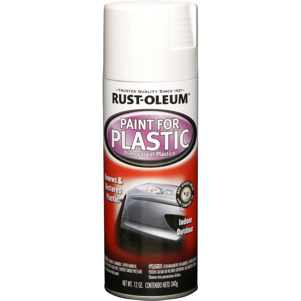 12 oz. White Paint for Plastic Spray Paint