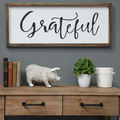 "15.00 in. x 40.00 in. ""Grateful"" Printed Wall Art"