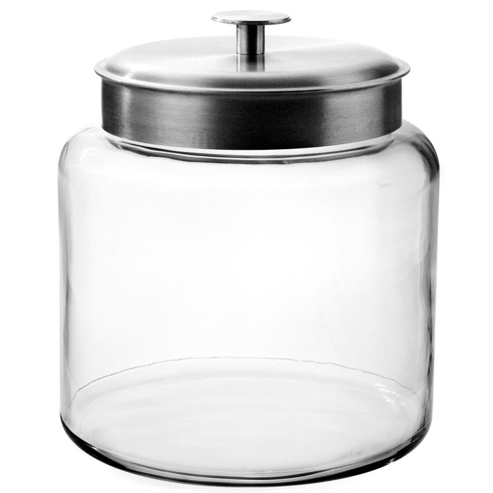 Anchor Hocking 1.5 gal. Montana Jar with Aluminum Cover-95506 - The on clear canisters in food, clear stools for kitchen, clear canisters with lids, canister sets for kitchen, spray paint a tray for kitchen, clear plastic kitchen canisters, acrylic canister sets kitchen,