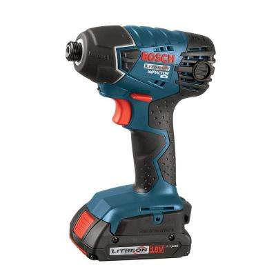 18 Volt Lithium-Ion Cordless Electric 1/4 in. Variable Speed Impact Driver Kit with (2) 2.0 Ah Batteries