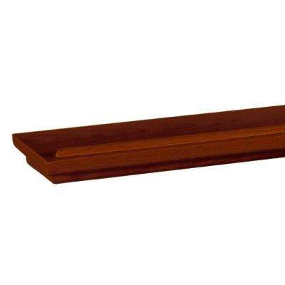 48 in. W x 4.5 in. D x 1.5 in. H Floating Chocolate Display Ledge Decorative Shelf