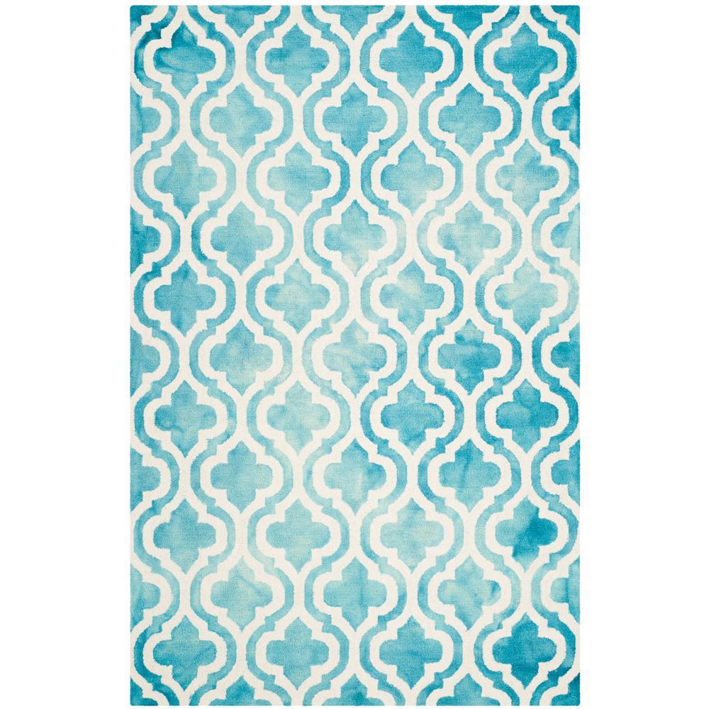 Safavieh Dip Dye Gray Turquoise Area Rug Reviews: Safavieh Dip Dye Turquoise/Ivory 5 Ft. X 8 Ft. Area Rug