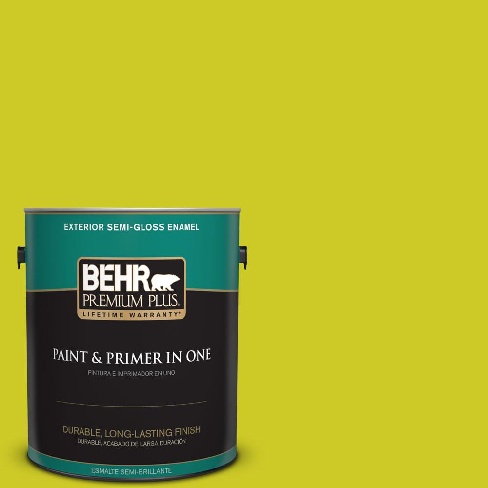 1-gal. #S-G-400 Lime Pop Semi-Gloss Enamel Exterior Paint