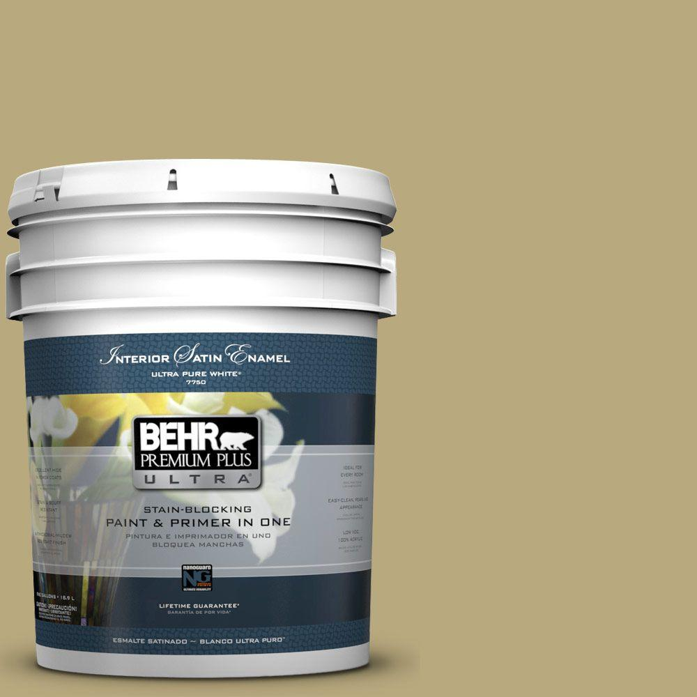5-gal. #M330-5 Fresh Brew Satin Enamel Interior Paint