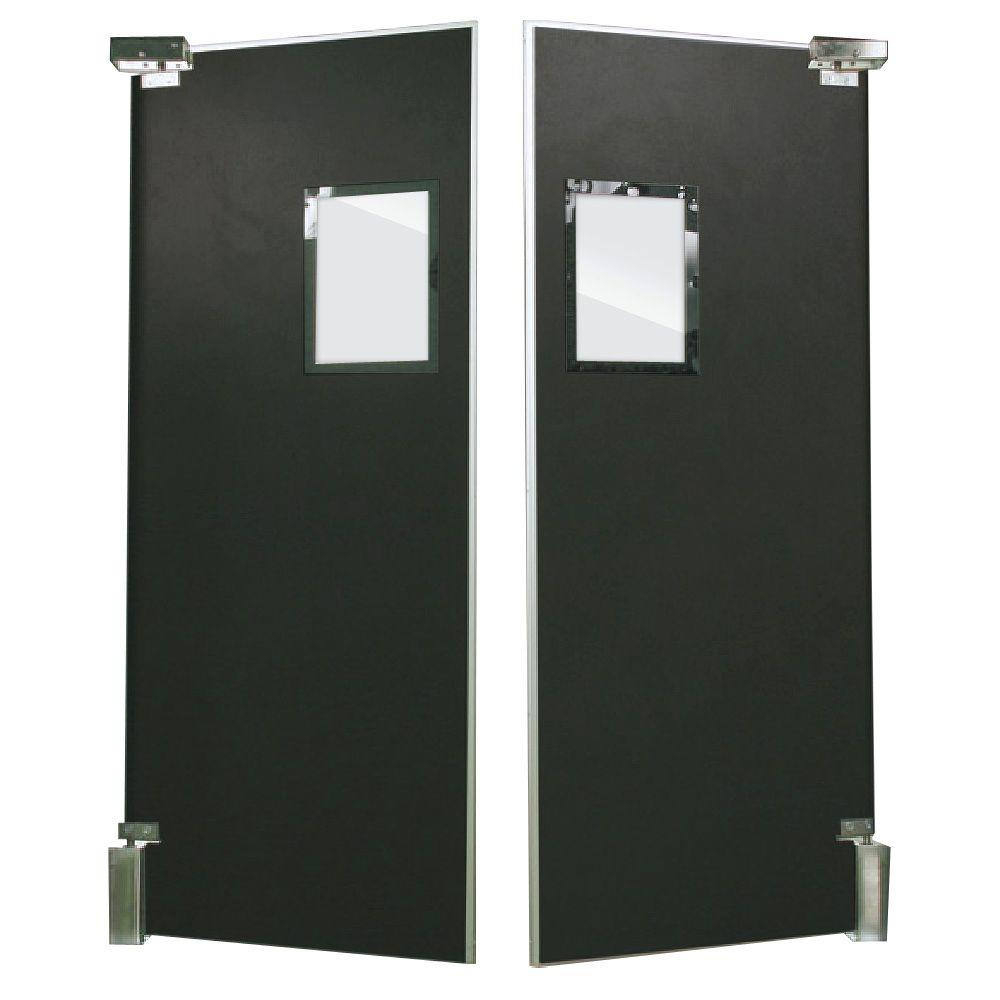 Aleco ImpacDor FS-500 3/4 in. x 60 in. x 96 in. Black Wood Core Impact Door