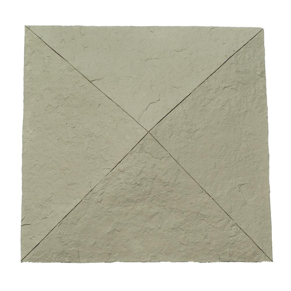 Nextstone Sandstone 18 In X 18 In Gray Faux Polyurethane Stone