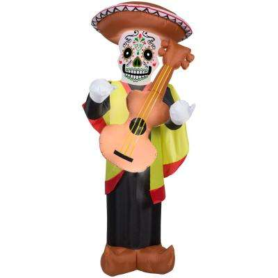 6.99 ft. Pre-Lit Inflatable Day of the Dead Man Airblown